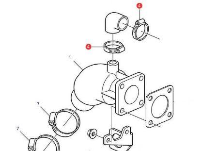 Volvo Penta D1-13, D1-20 Exhaust Hose Clamp, Part Number 994560
