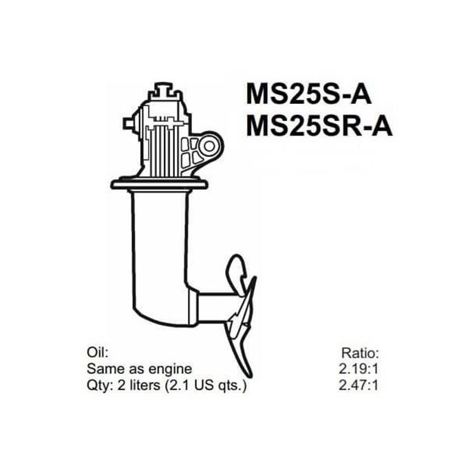 Picture for category Volvo Penta MS25S Saildrive Parts