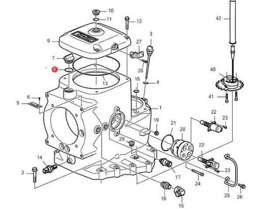 Volvo Penta IPS oil filler cap O-Ring, Part Number 949656