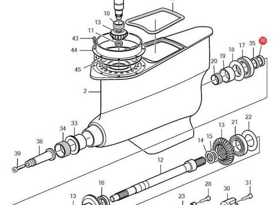 Volvo Penta Inner Prop Shaft Seal Ring- Brown, Part number 3842286
