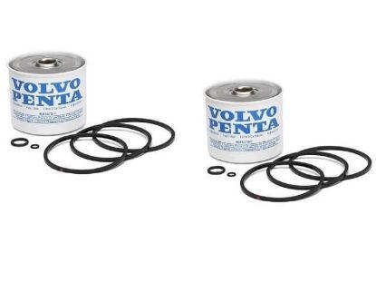Volvo Penta Diesel CAV Fuel Filter Element Twin Pack, Part Number 3581078