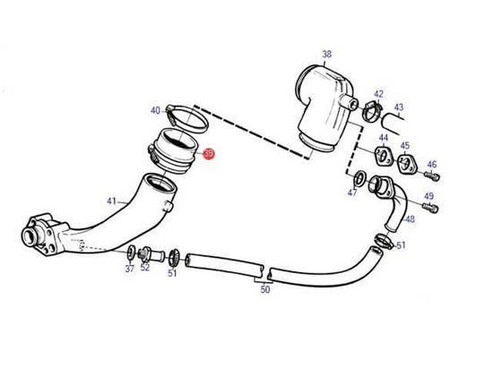 Volvo Penta 4 inch exhaust hose bellow, Part Number 860396