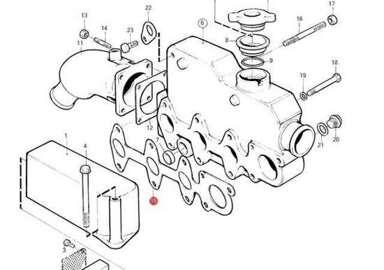 Volvo Penta Heat Exchanger Manifold Gasket, Part Number 3580245