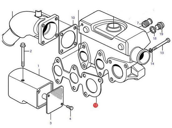 Volvo Penta MD2010 Heat Exchanger Manifold Gasket, Part Number 861909