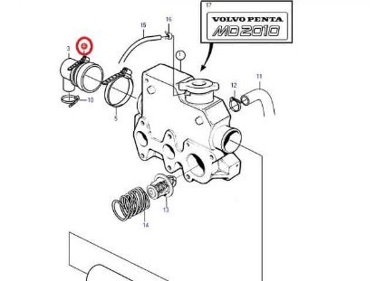 Volvo Penta MD2010, MD2010A, MD2010B end cap Jubilee, Part Number 961672