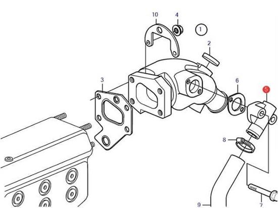 Volvo Penta Exhaust Elbow Connector, Part Number 859836