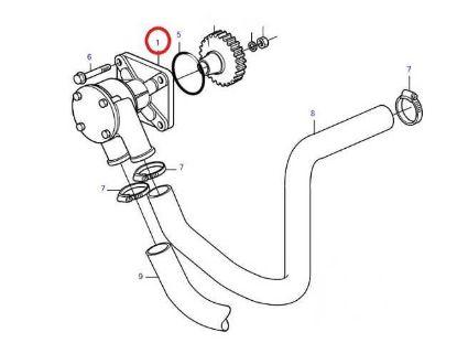 Volvo Penta D2 Series Seawater Impeller Pump, Part Number 3583089
