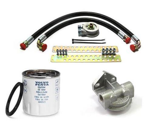 Volvo Penta D2-50 remote oil filter kit, Part Number FYB074