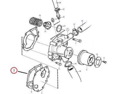 Volvo Penta MD2030 Water Pump Gasket, Part Number 3580367