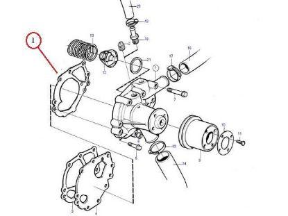 Volvo Penta MD2030 Water Pump Gasket, Part Number 3580369